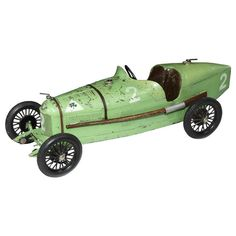 Alfa Romeo P2 Tinplate Toy | From a unique collection of antique and modern toys at https://www.1stdibs.com/furniture/more-furniture-collectibles/toys/