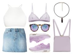 """Pretty in Lilac"" by baludna ❤ liked on Polyvore featuring NIKE, Marc by Marc Jacobs, Lulu Guinness, Illesteva and Cosabella"