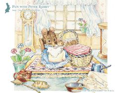 Beatrix Potter, Peter Rabbit And Friends, Antique Pictures, Whimsical Art, Art Tutorials, Cute Drawings, Cartoon Characters, Animals And Pets, Illustrations