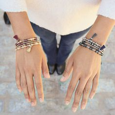 These come in a set of two and are a great One size fits All gift! Buy 2 Sets Get 1 Free till the end of today! Beaded Stretch Bracelet Set | Chloe + Isabel - MaryMoStyle.com