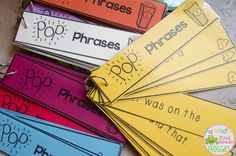 Pop Phrases!- sight word fluency phrases