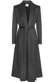 VionnetBelted wool and cashmere-blend felt coat