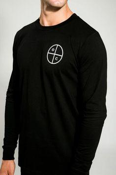 BLACK/WHITE O C LONG SLEEVE TEE Long Sleeve Tees, Black And White, Sleeves, Mens Tops, T Shirt, Fashion, Supreme T Shirt, Moda, Tee Shirt