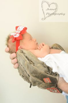 baby newborn baseball photography cardinals