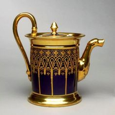 Marc Schoelcher Factory; Teapot, c. 1820  very elegant