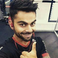 Virat kohli at the gym