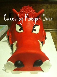 GO HOGS GO! My Razorback cake for a 50 Wedding Anniversary!
