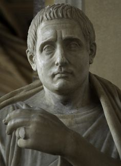 Posidippus. Marble. Roman copy of the 1st century CE of the Greek original of mid-3d cent. BCE. Inv. No. 735. Rome, Vatican Museums, Pio-Clementine Museum, Gallery of statues, 51. (Photo by Sergey Sosnovskiy).
