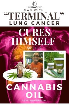 """Man With """"Terminal"""" Lung Cancer Cures Himself With Cannabis Oil via @dailyhealthpost"""