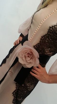 Silk Georgette and Chantilly Lace....romance