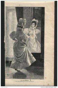 """Vor dem Kostümfest  - Druck, entnommen   aus """"die Gartenlaube"""", 1897"""