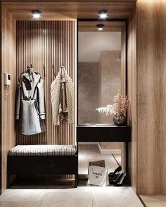 Foyer Design, Design Hall, Hallway Designs, Closet Designs, Corridor Design, Tv Wall Design, Flat Design, Apartment Entrance, Home Entrance Decor