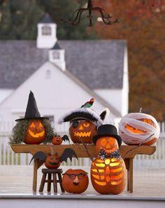 Jack-O-Lanterns via Pottery Barn - love the gauze idea