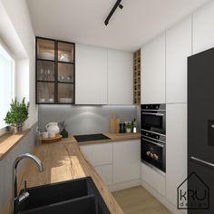 Kitchen Room Design, Kitchen Cabinet Design, Modern Kitchen Design, Living Room Kitchen, Kitchen Layout, Home Decor Kitchen, Interior Design Kitchen, Home Kitchens, Small Modern Kitchens