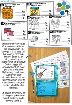 Oppgavekort - måling 2-2 Bullet Journal