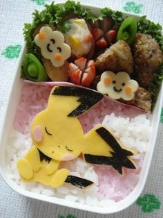 日本人のごはん/お弁当 Japanese meals/Bento ピチュウ弁当 Pichu Bento | Community Post: 25 Adorable Bento Boxes You Wish Your Mom Made