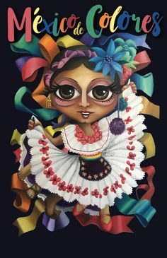 Mexico de Colores, 2017 Óleo sobre tela 80x60cm