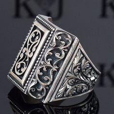 Plata esterlina 925 MENS anillo de joyería completamente Artesanal Única Anatolia | Joyería y relojes, Joyas para varones, Anillos | eBay!