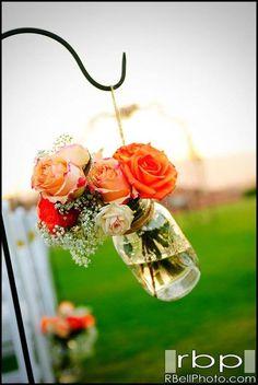 Mason jar // rustic wedding