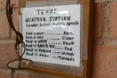 Texas weather station