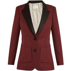 Racil Yorkshire single-breasted wool blazer (€470) ❤ liked on Polyvore featuring outerwear, jackets, blazers, suits, blazer, blazer jacket, red blazer, wool blazer, slim fit jackets and red blazer jacket