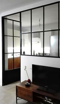 Kitchen Wall Decored Frames 62 Ideas Kitchen Wall Decored Frames 62 Ideas Making a pa Küchen Design, House Design, Interior Design, Door Dividers, Glass Room Divider, Barn Door Designs, Kitchen Wall Colors, Interior Windows, Living Room White