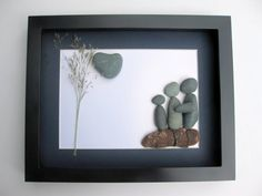 Personalized Family Gift and Custom Stone Art Work by SticksnStone, $50.00