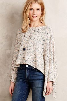 Speckled Poncho Pullover - #anthrofave
