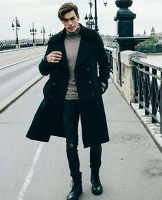Winter Outfits for Men - Layering is KING. - The Indian Gent-Winter Outfits for Men – Layering is KING. – The Indian Gent Grey and Dark Mens Fashion Combination - Dark Mens Fashion, Best Mens Fashion, Mode Man, Gents Fashion, Fashion 2020, Man Fashion, Paris Fashion, Fashion Boots, Indian Fashion