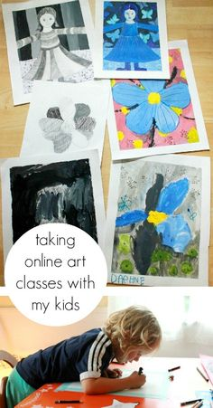 If you want to take an art class, but don't know know how to find the time as a parent, try an online class and SHARE the class with your kids. You'll both benefit. Here are some suggestions for making it work...