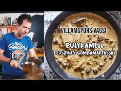 20 perces vacsi: pulykasteak tejszínes gombamártással - YouTube Food And Drink, Make It Yourself, Ethnic Recipes, Desserts, Tailgate Desserts, Deserts, Dessert, Food Deserts