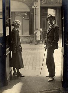Sylvia Beach and James Joyce at Shakespeareand Co., Paris, before July, 1921.Alliance Paris, n.d.Maurice Saillet Collection of Sylvia Beach andShakespeare and Company.