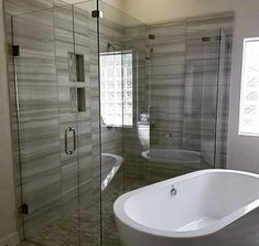 Glass Shower Enclosures, Glass Supplies, Custom Glass, Glass Company, Glass Design, Corner Bathtub, Fixer Upper, Temple, Shower Installation