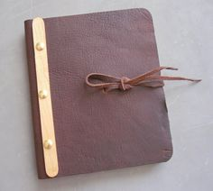 Mahogany Leather Journal // Notebook Refillable by bynicoledeann, $60.00