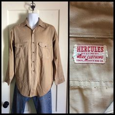 A personal favorite from my Etsy shop https://www.etsy.com/listing/252542081/1940s-hercules-work-clothing-sears