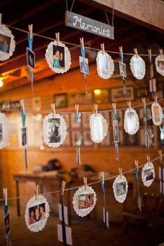 Decoração para o chá de panela: fotos e memórias