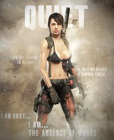 Quiet Metal Gear Solid V The Phantom Pain #ThePhantomPain #MetalGearSolidV #DiamondDogs #MGSV #MetalGearSolid #Quiet