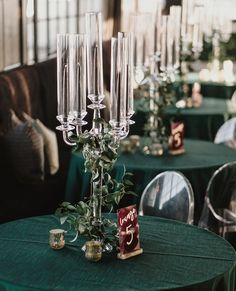Kaygan + Andrew - Real Houston Wedding - Weddings in Houston Table Accents Modern candle centerpiece Wedding Reception Centerpieces, Wedding Reception Venues, Reception Decorations, Ghost Chair Wedding, Wedding Chairs, Yard Wedding, Tall Flower Centerpieces, Candle Centerpieces, Copper Wedding