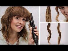 Kurze haare locken mit glatteisen