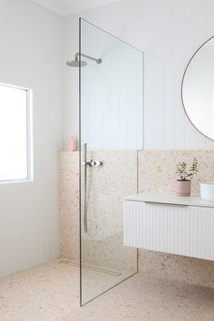 Ensuite Bathrooms, Bathroom Renos, Laundry In Bathroom, Bathroom Renovations Perth, Bathroom Design Inspiration, Bathroom Interior Design, Bathroom Styling, Terrazzo, Decoration
