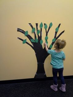 Zacchaeus Tree. After we learned the story of Zacchaeus, we added paper leaves to a tree to remind us of the story.