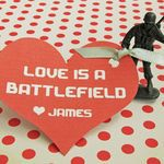 """""""Love is a Battlefield"""" Valentine's with little green plastic army men 