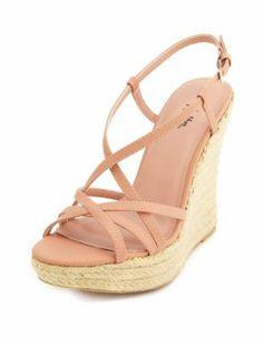 strappy jute wedge sandal