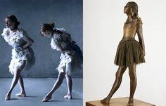 """Juliane Moore na releitura """"Little Dancer, Aged Fourteen"""" de Edgar Degas por Peter Lindbergh"""