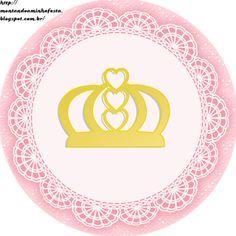 Montando a minha festa: Kit digital gratuito para imprimir Princess - Coroa de Princesa Rosa!