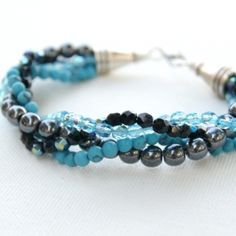 Make your own twisted bead bracelet that's exactly your style!  Full tutorial for this fun and sassy piece.