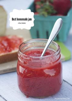 The best homemade strawberry jam recipe + free jam labels