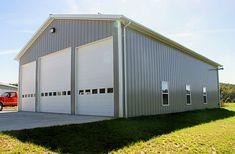 Galax VA, Garage, Dillon Construction Co. Pole Barn Garage, Pole Barn Homes, Garage House, Rv Garage, Pole Barns, Garage Ideas, Garage Storage, Steel Garage Buildings, Pole Buildings