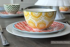 Make Summer Dinners Special with Pretty Place Settings~
