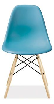 Eames Molded Plastic Side Chair with Dowel Legs in Light Blue - from Room & Board - a step up from the cheap-o Ikea ones in my dining room?